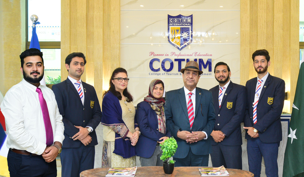 Team Pakistan with COTHM's Founder and CEO Ahmad Shafiq